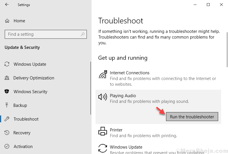 Audio Troubleshooter Min