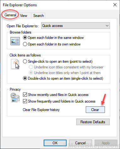 Clear Quick Access History Min