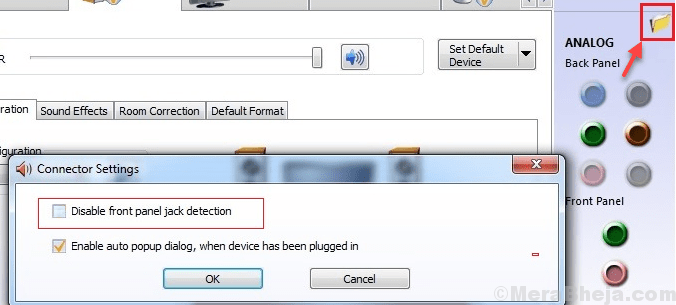 Disable Front Panel Jack Detection Min