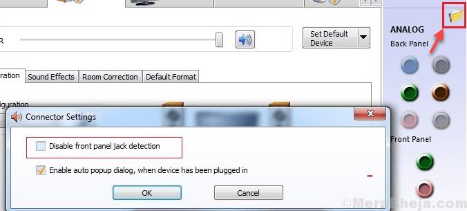 Disable Front Panel Jack Detection Min