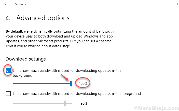 Limit How Much Bandwidth Used Downloading Updates Min