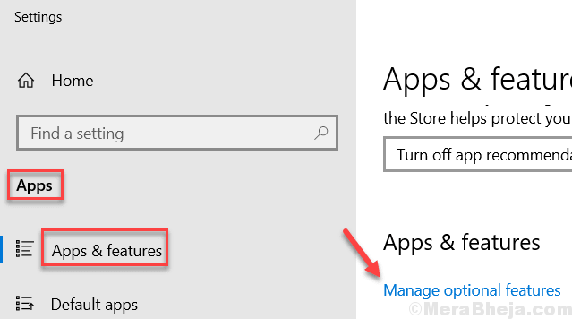 Manage Optional Features Min