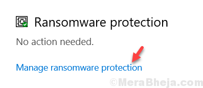 Manage Ransomware Protection Min