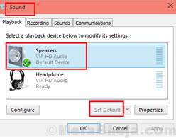 Speakers Set Default Min