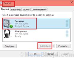 Speakers Set Default Min
