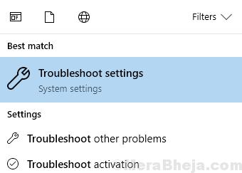 Troubleshoot Settings Min