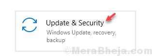 Update & Security Min