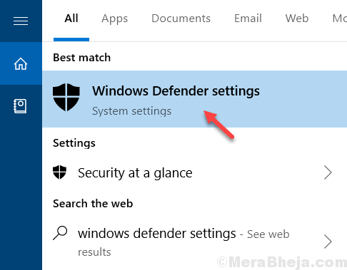 Windows Defender Settings Min