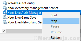 Xbox Live Auth Manager Stop Min