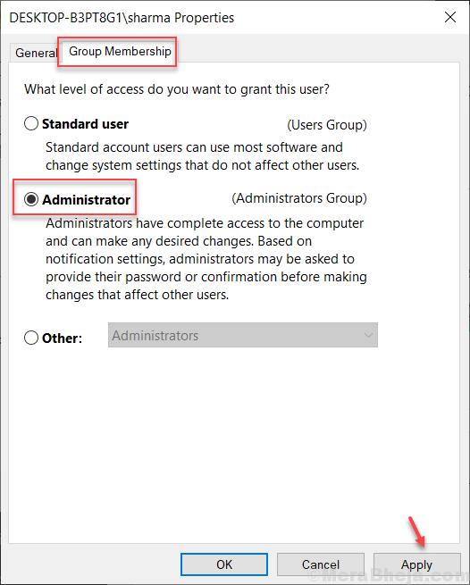 Admin Apply Netplwiz