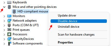 Disable Mouse Min