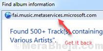 Fai Music Album Info Window Media Player