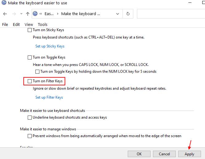 Filter Keys Min