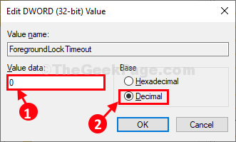 Foregroundlocktime Double Click