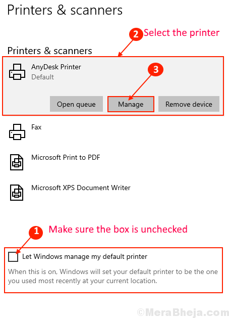 Printer And Scanner Default