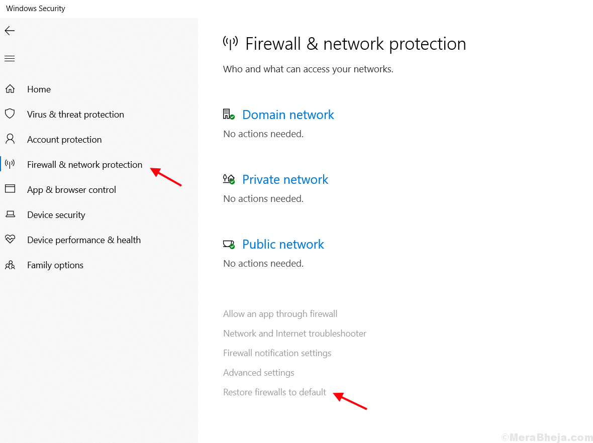 Resetting Firewall Default