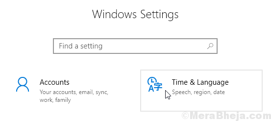 Time Language Settings