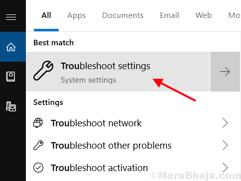 Troubleshoot Settings