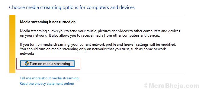 Turn On Media Streaming