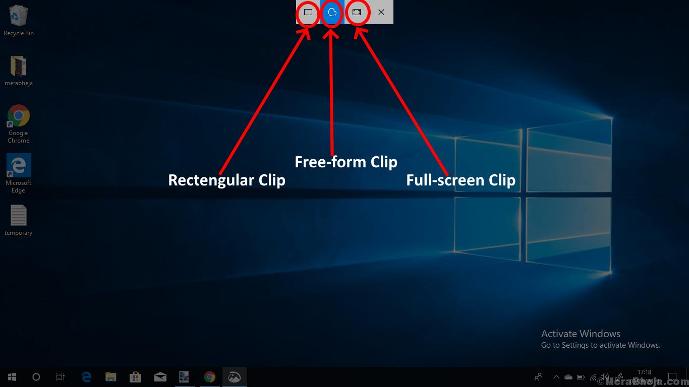 3 Snip Options