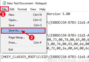 File Save As