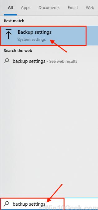 Backup Search