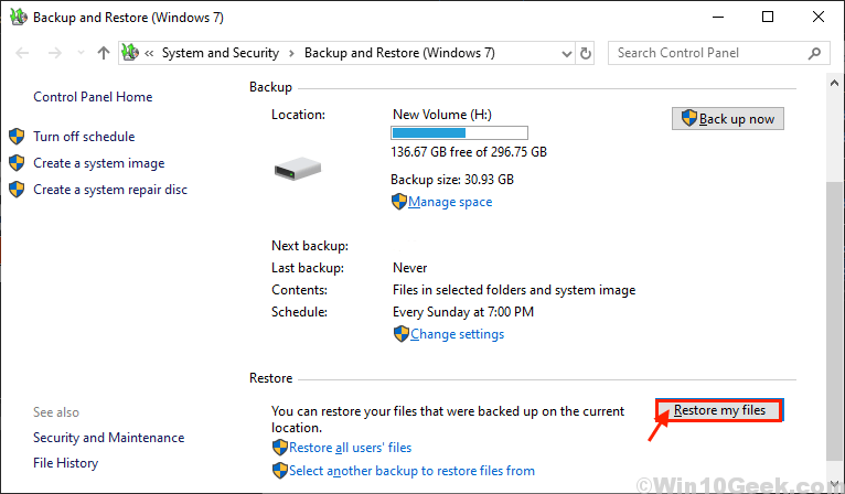 Restore My Files From Backup