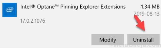 Uninstall Pinning Extensions
