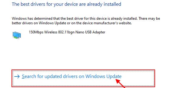 Update Wifi Windowsupadate