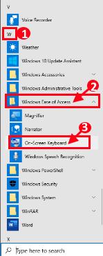 On Screen Keyboard Windows