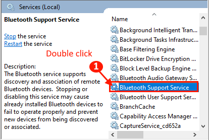 Bluetooth Services Double Click