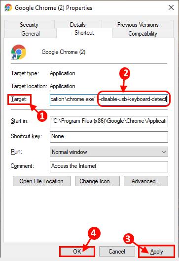 Disable Usb Keyboard