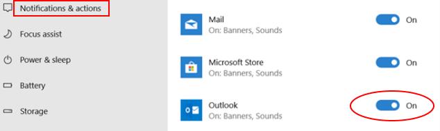 Outlook Notifications On Min