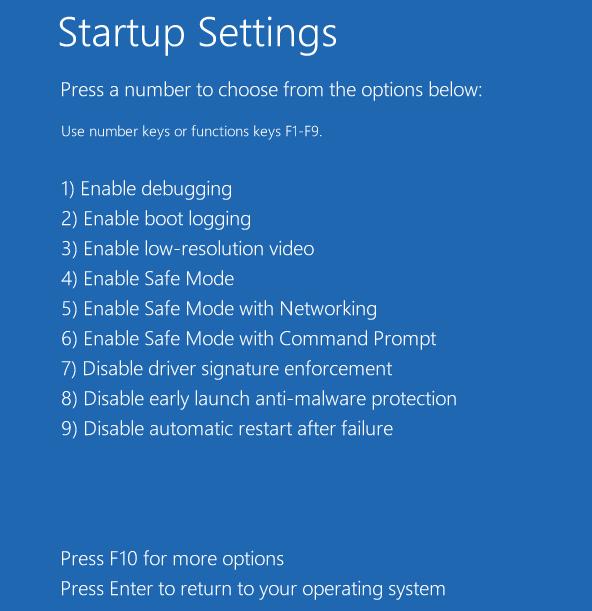 Startup Safe Mode