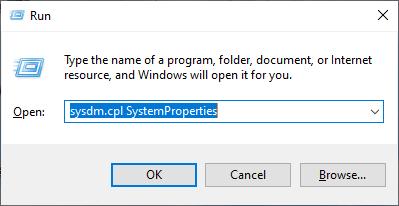 System Properties Run