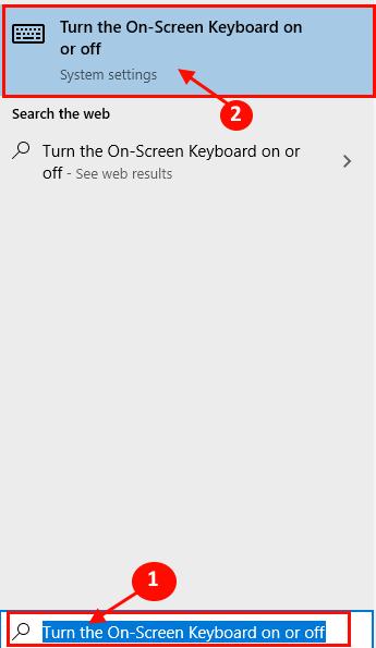 Turn Offon On Screen Keyboard