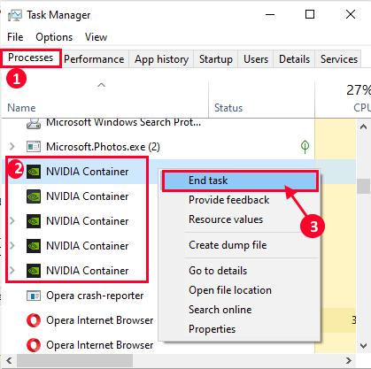 Nvidia Kill Process