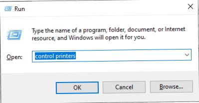 Control Printers Run