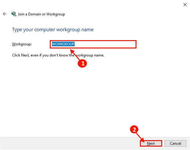 Enter Work Gorup Name