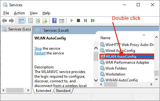 Wlan Double Click