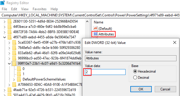 Attributes Power Lid Action Missing Min
