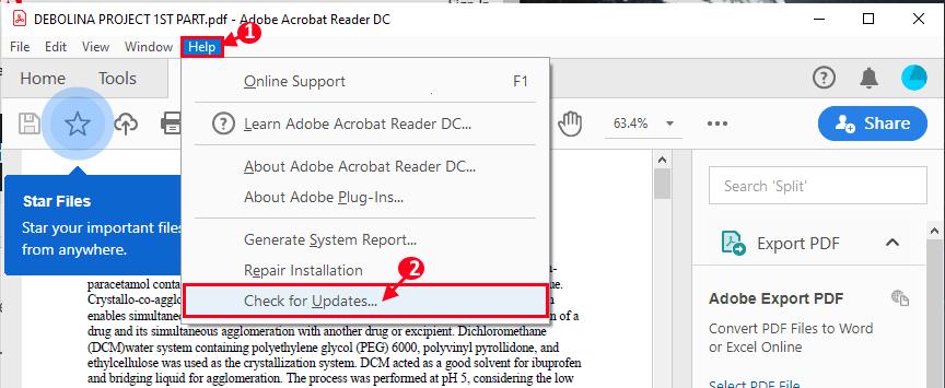 Check For Updates Adobe Reader