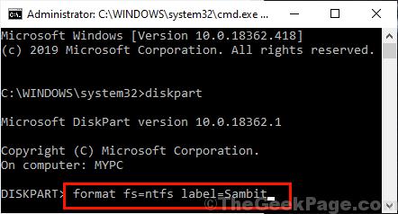 Format Ntfs Cmd
