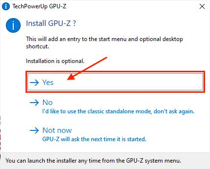 Install Gpu Z