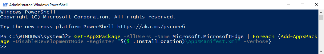 Powershell+edge