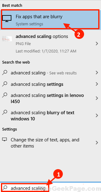 Advnced Scaling Search