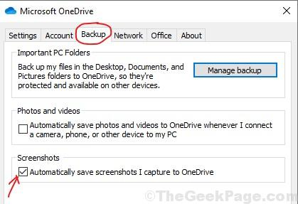 Backup Scrrenshots Onedrive