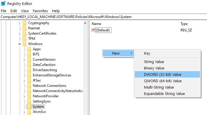 Create New Dword Min