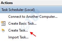 Create Task Task Scheduler