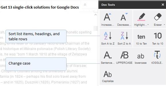 Google Docs Add On